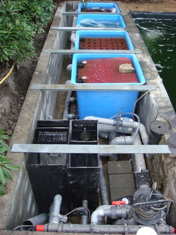 Vijver filter van de pas vijverbouw for Filter voor vijver